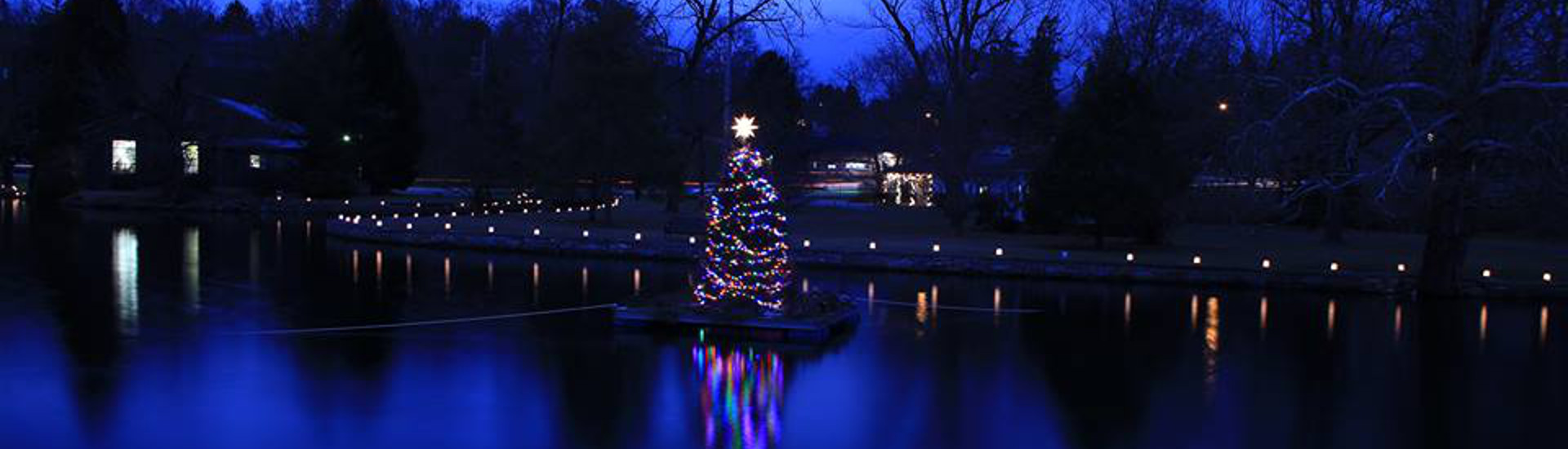 Boiling Springs Christmas Tree on the Lake
